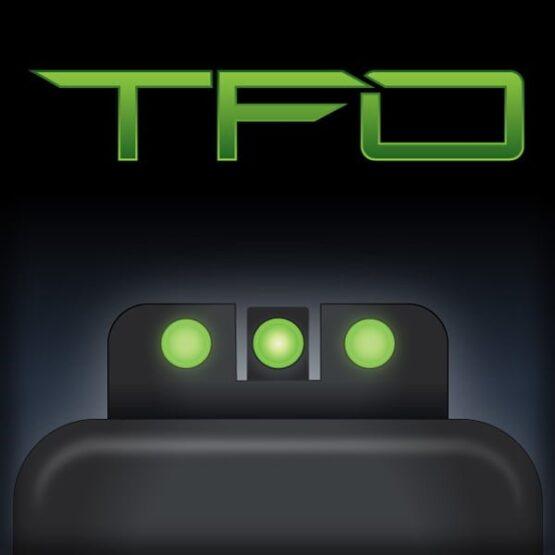 Mira Truglo TFO TRITIUM - FIBER OPTIC para Glock 3