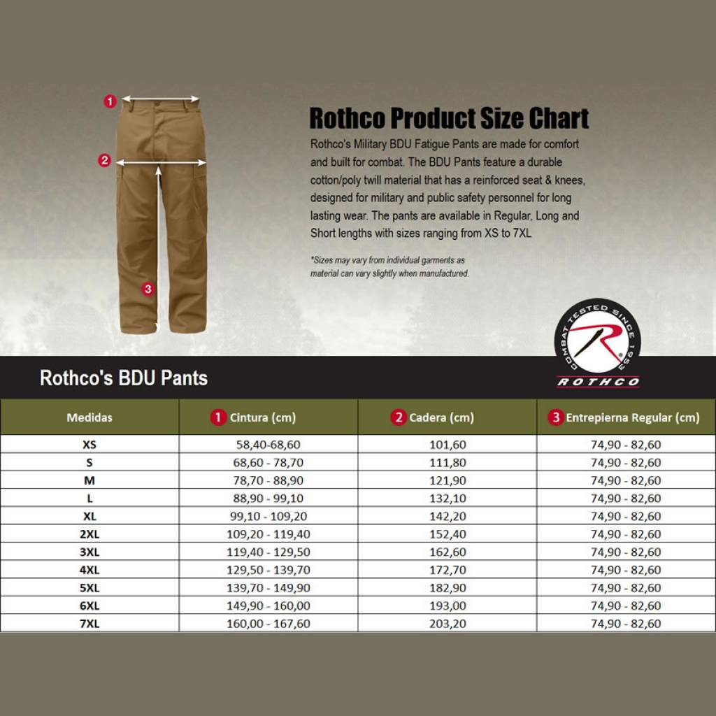 Rothco Pantalon Cargo Bdu Rip Stop 9