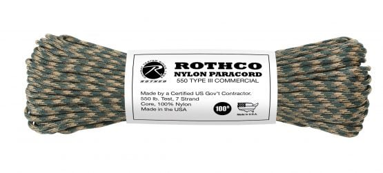 Cuerdas Paracord 550lb Tipo 3 Rothco 13