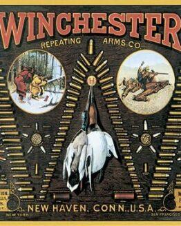 WINCHESTER BULLET Cartel Vintage de chapa WBMTS0942