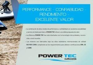 Motor Fuera de Borda Powertec 2.8 HP 4T PC 2