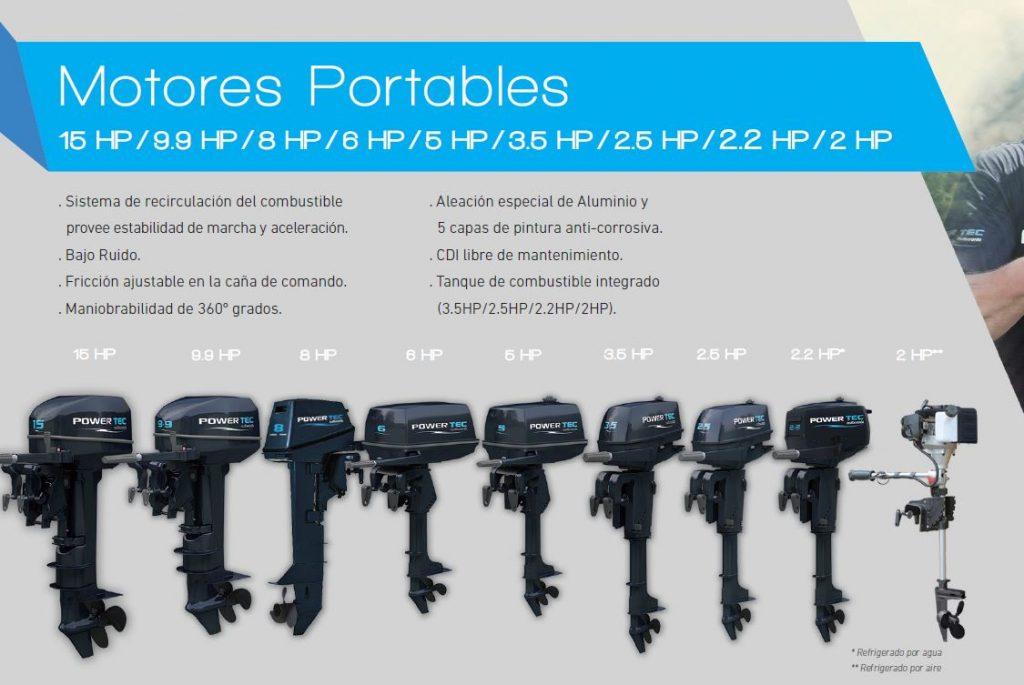 Motor Fuera de Borda Powertec  5HP 2T PC 5