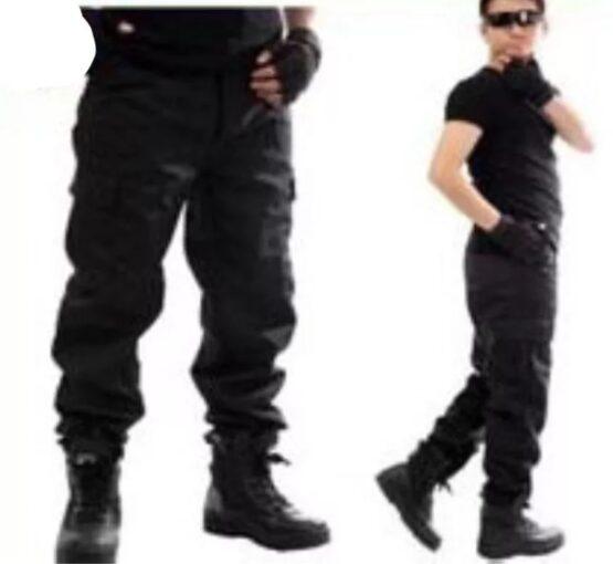 Pantalón Cargo Militar Táctico Negro 1