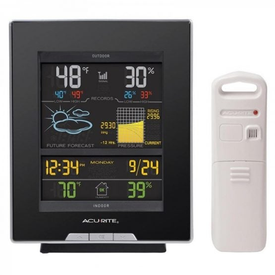 Estacion meteorologica Accurite - Pantalla color y sensor humedad y temperatura exterior. 1