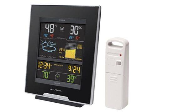 Estacion meteorologica Accurite - Pantalla color y sensor humedad y temperatura exterior. 2