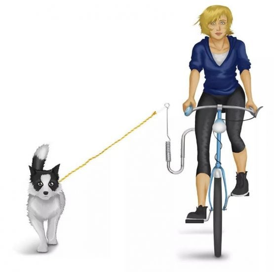 Gancho soporte para pasear perros en la bicicleta manos libres 2