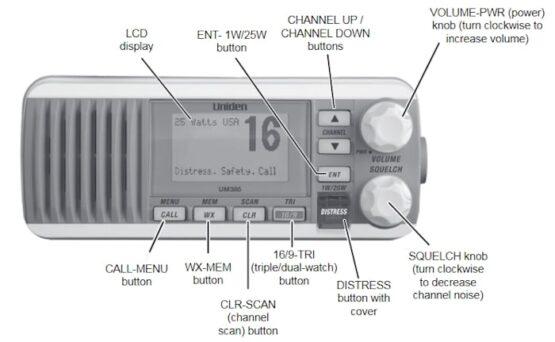 BASE MARINA VHF DE ALTA PERFORMANCE UNIDEN UM385 VHF Comunicación 3