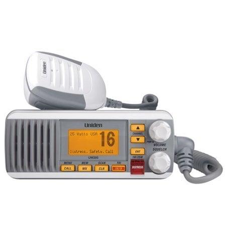 BASE MARINA VHF DE ALTA PERFORMANCE UNIDEN UM385 VHF Comunicación 1