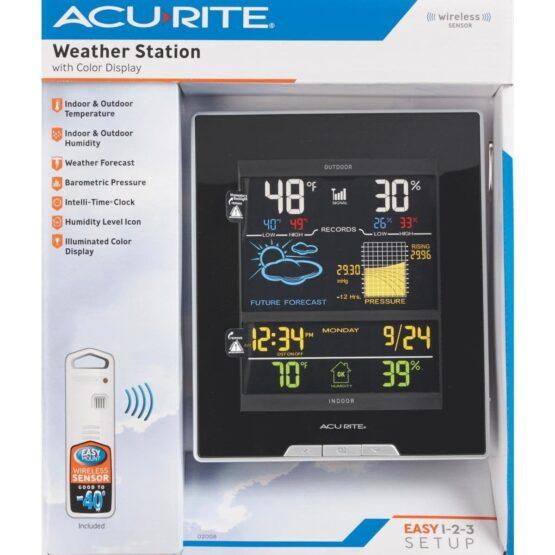 Estacion meteorologica Accurite - Pantalla color y sensor humedad y temperatura exterior. 3