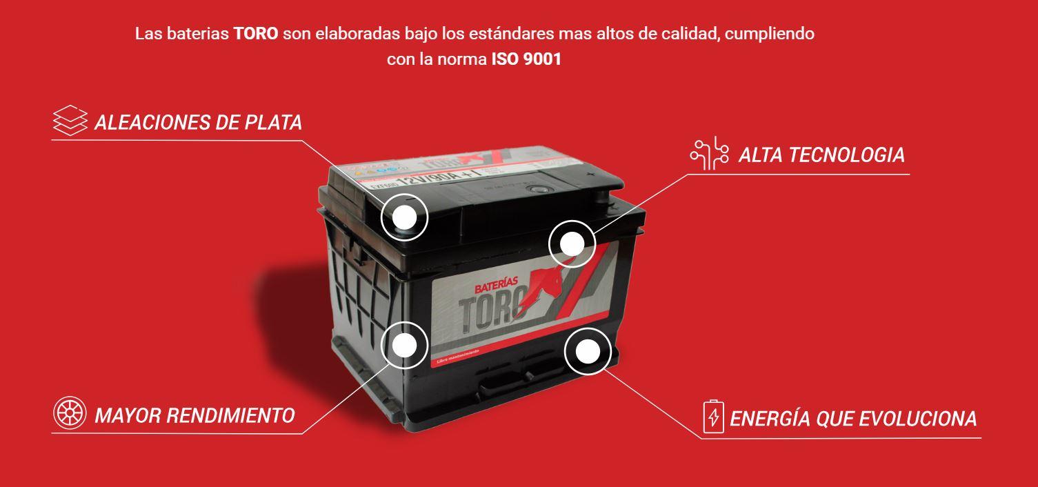 Bateria de Arranque Toro 120 Amperes 12V Auto Camioneta 4