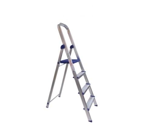 Escalera en aluminio Escalones + Plataforma y soporte para piernas. - 4 pasos 2
