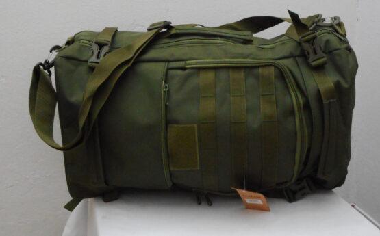 Mochila/ bolso 2 en 1. 50 Litros. En lona militar muy resistente. 7