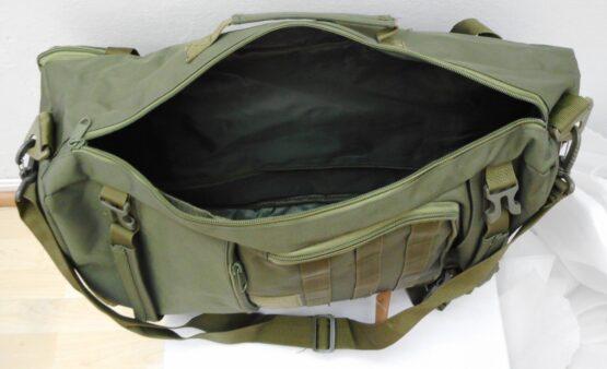 Mochila/ bolso 2 en 1. 50 Litros. En lona militar muy resistente. 9