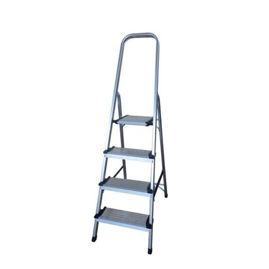 Escalera en aluminio Escalones + Plataforma y soporte para piernas. - 4 pasos 1