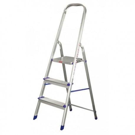 Escalera en aluminio Escalones + Plataforma y soporte para piernas. - 3 pasos 4