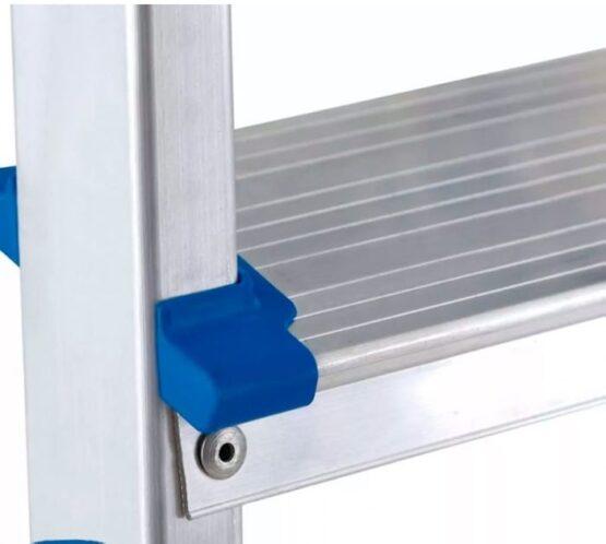 Escalera en aluminio Escalones + Plataforma y soporte para piernas. - 3 pasos 3
