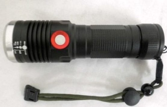 Linterna táctica con led t 6 de 10 w. recargable a 220v. 1