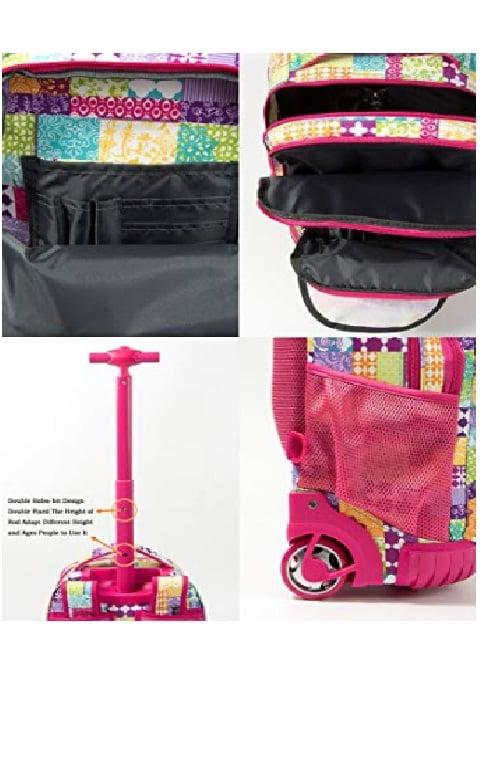 """Mochila""""Tilami Rolling Backpack Armor"""" Multifuncion con ruedas y manija 7"""