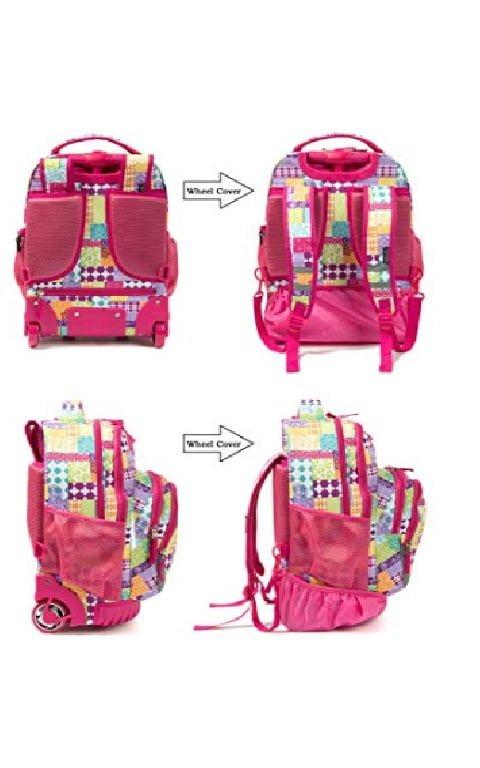 """Mochila""""Tilami Rolling Backpack Armor"""" Multifuncion con ruedas y manija 6"""