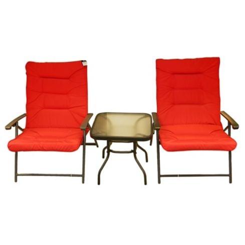 Juego de Balcon Sao Paulo 3 piezas rojo Just Home Collection 1