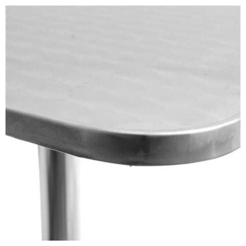Mesa de exterior en aluminio color plateada Just Home Collection 3