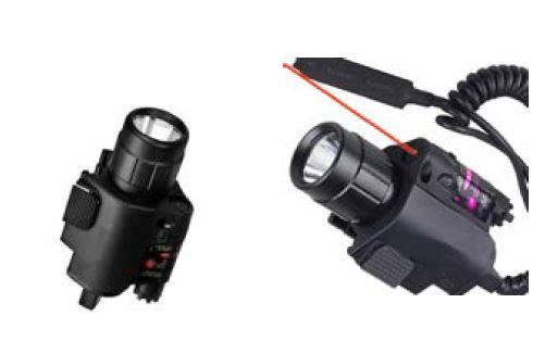 Mira laser y linterna Led en polimero con acople rapido para armas 1