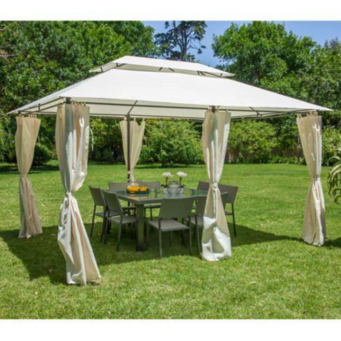 Pergola Romana con cortina 3 x 4 m Just Home Collection 1
