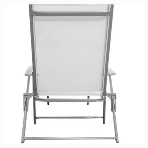 Reposera Porto Cervo gris y blanco Just Home Collection 5