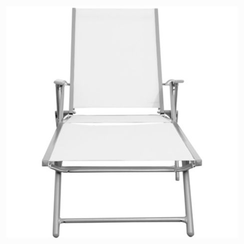 Reposera Porto Cervo gris y blanco Just Home Collection 4