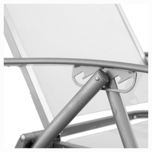 Reposera Porto Cervo gris y blanco Just Home Collection 8