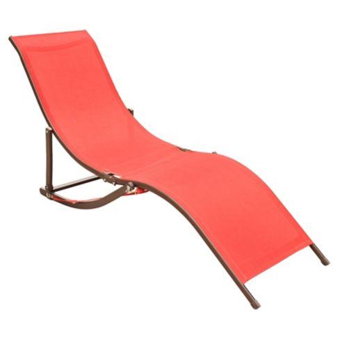 Reposera Sky Just Home Collection en Aluminio y Textileno color Rojo 1