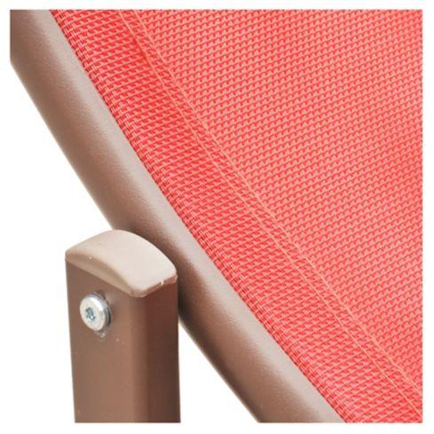 Reposera Sky Just Home Collection en Aluminio y Textileno color Rojo 3