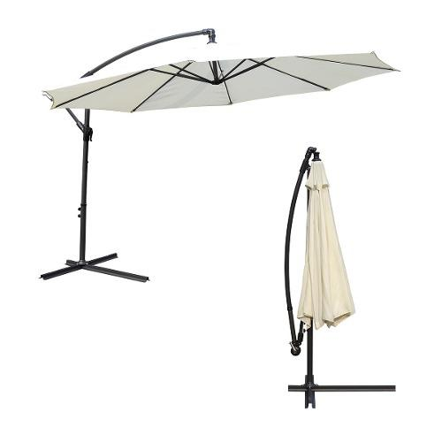 Sombrilla lateral aluminio 2.7 m Natural Just Home Collection 2