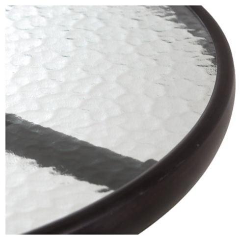 Mesa de exterior hierro y vidrio negra Just Home Collection 2