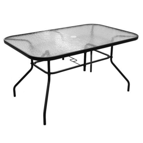 Mesa de exterior Sling acero y vidrio templado negra Just Home Collection 1