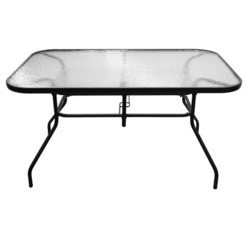 Mesa de exterior Sling acero y vidrio templado negra Just Home Collection 2