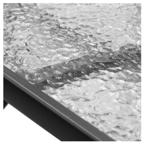 Mesa de exterior Sling acero y vidrio templado negra Just Home Collection 3