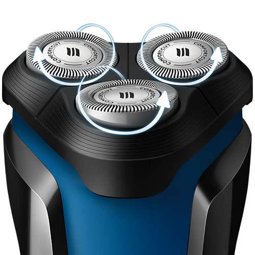 Afeitadora Eléctrica Philips AquaTouch Serie 1000 para Uso en Seco y Húmedo 2