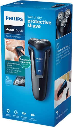Afeitadora Eléctrica Philips AquaTouch Serie 1000 para Uso en Seco y Húmedo 9