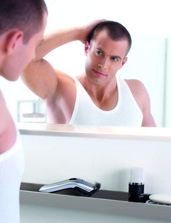 Corta cabellos Recargable Philips con 11 posiciones, peine ajustable y uso con o sin cable 12