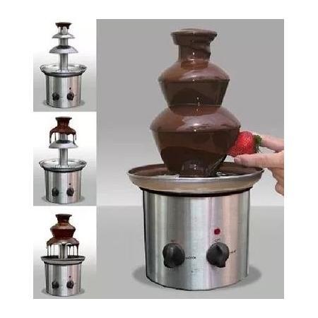 Fuente de 3 pisos para Chocolate en Acero Inoxidable. 4