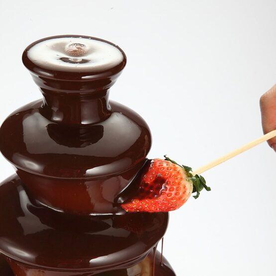 Fuente de 3 pisos para Chocolate en Acero Inoxidable. 3