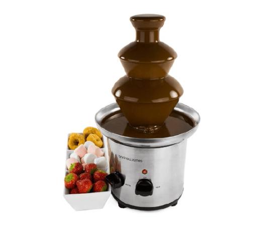 Fuente de 3 pisos para Chocolate en Acero Inoxidable. 1