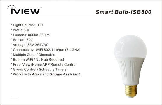 Bombita de Luz LED 9W Wifi Inteligente IVIEW SMART 5