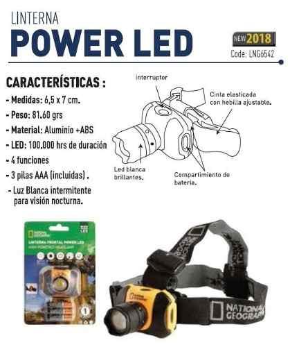 LINTERNA DE CABEZA National Geographic - POWER LED 4