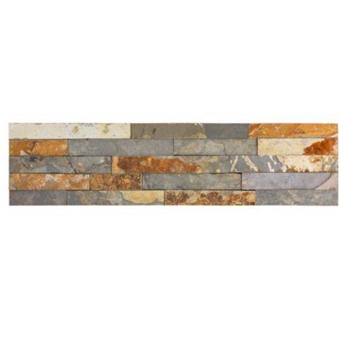 Revestimiento piedra Oxido 60 x 15 cm 0,63 m2 Kastelo 2