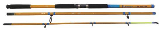 Equipo de pesca corvinero caña 4.2 mts + reel okuma + tanza mustad 2