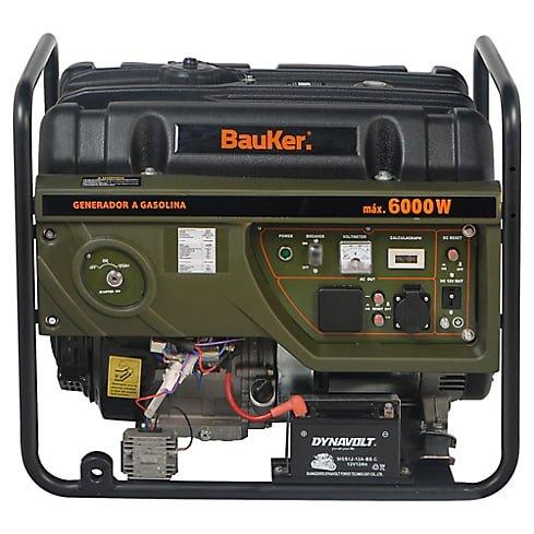 Generador eléctrico a Gasolina 6000W 8,0 hp Bauker 6