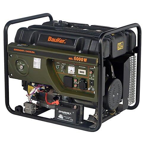 Generador eléctrico a Gasolina 6000W 8,0 hp Bauker 3