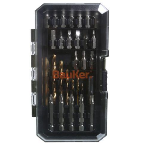 Set taladro atornillador 12 v con 29 piezas Bauker 9